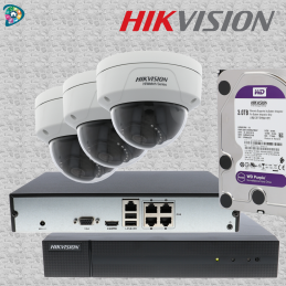 HIKVISION - 3 X DÔME IP 4MP...