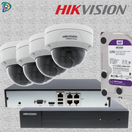 KIT HIKVISION - 4 X DÔME IP...